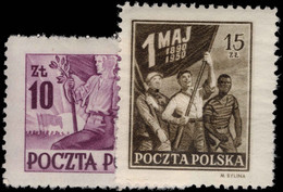 Poland 1950 May Day Manifesto Lightly Mounted Mint. - Unused Stamps