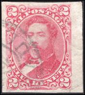 Hawaii 1889 2c Carmine Imperf Fine Used. - Hawaii