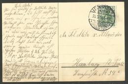GERMANY. 1911. CARD. LOCKSTEDTER LAGER HOLSTEIN. HUSSAR REGIMENT ON PICTURE SIDE. - Cartas