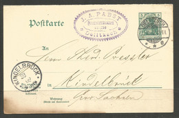 GERMANY / SAXONY. 1902. CARD. DELITZSCH. J A PABST DRECHSLERWAAREN – WOOD TURNER - Cartas