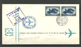 NEDERLAND NETHERLANDS 1960 First Flight Cover Amsterdam-Jeddah - Covers & Documents