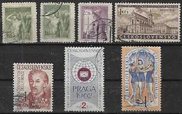 1954-60 Checoslovaquia 7v. Oficios-personaje-deporte-praga - Gebraucht