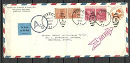 USA 1941 Air Mail Commercial Cover O Norfolk Virginia To Sweden - 2c. 1941-1960 Briefe U. Dokumente