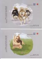 China 2017 Painting Dog Chien Postal Stationery 5P ** - Tarjetas – Máxima