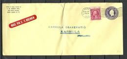 USA 1934 Sea Mail Seepost S/S Bremen O New York To Finland Karhula NB! Vertical Fold! - Briefe U. Dokumente