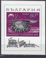 "Bulgaria 1970 - Space:"" Lunohod 1"", Mi-Nr. Block 29, MNH** - Neufs"
