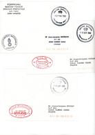 YOUGOSLAVIE FM 1992 FORPRONU ONU GENDARMERIE FORCE PREVOTALE ET GERANT FOYER A SARAJEVO X 3 ENVELOPPES - 1961-....