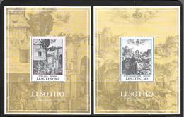 LESOTHO 1991 NOEL-PEINTURES DURER YVERT N°B88/89 NEUF MNH** - Religión