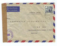 Tschechoslowakei, 1946, Luftpost- Kuvert Nach Wien, Österr. Zensurstempel (13952W) - Briefe U. Dokumente