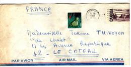 44310 - Avec Vignette Pour La France - Lettres & Documents