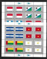 ONU 1989  FEUILLETS DRAPEAUX  YVERT N°547/62 NEUF MNH** - Blocchi & Foglietti