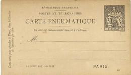 Entier Postal CARTE PNEUMATIQUE 30 Telegraphe RV - Pneumatiques