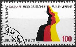 1994 Deutschland Germany Mi. 1723 FD-used  100 Jahre Bund Deutscher Frauenvereine/Deutscher Frauenrat - Oblitérés