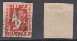 India 1854 Mi# 5 Used 1 ANNA C / 130 COCHIN Postmark Very Nice Margins - 1854 Britische Indien-Kompanie