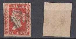 India 1854 Mi# 5 Used 1 ANNA Nice Postmark Good Margins - 1854 Britische Indien-Kompanie