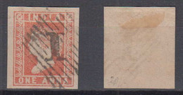 India 1854 Mi# 5 Used 1 ANNA Nice 1 Postmark Very Nice Margins - 1854 Britische Indien-Kompanie