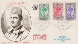 Enveloppe  FDC  1er  Jour  MAROC   30éme  Anniversaire  Du  Couronnement  De  MOHAMED  V    1957 - Maroc (1956-...)