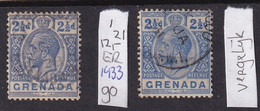 Grenada 1921, Minr 90 Vfu. Cv 12 Euro (to Compare, On The Right Another Colour) - Grenada (...-1974)