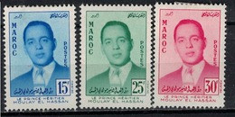 MAROC       N°  YVERT  377/379       NEUF AVEC CHARNIERE      ( Char 4/B ) - Maroc (1956-...)