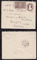 India 1930 Uprated Stationery Envelope To HÖNEFOSS Norway - 1911-35  George V