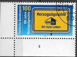 1994 Deutschland Germany Mi. 1740 FD-used   100 Jahre Herzogsägmühle. - Oblitérés