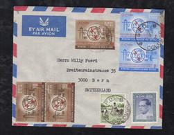 Ceylon 1965 Airmail Cover To BERN Switzerland ITU Stamps - Sri Lanka (Ceylan) (1948-...)