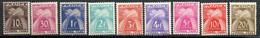 Yvert N° 78,79,81,82,83,84,85,86 Et 87 ** - Type Gerbes Légende Timbre-Taxe - 1859-1955 Neufs