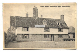 Brampton - Pepys House, Near Huntingdon - 1941 Used Postcard, 2d Postage Due Stamp On Back - Huntingdonshire