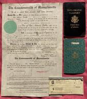 Konvolut USA Diplomatenpass Marc Jennings Robinson Richter ORG Berlin CORA Nünberg Viele Stempel Diplomatic Passport - Historical Documents
