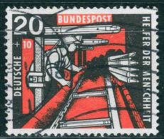 BRD - Mi 272 ≋⨀ (A) - 20+10Pf Kohlebergbau, Wohlfahrt 57 - Oblitérés