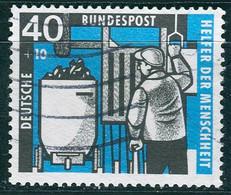 BRD - Mi 273 ≋⨀ (A) - 40+20Pf Kohlebergbau, Wohlfahrt 57 - Oblitérés