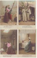 Fantaisie Série Complète 12 Cartes Soeur Jeanne Couple Pierre Et Jeannette Cpa Photo Paul Sescau Guerre Madagascar - Donne