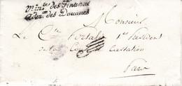LSC Administration Des Douanes Paris Pour Paris 1825 Paraphe De Franchise Pour Le 1er Président De La Cour De Cassation - 1801-1848: Précurseurs XIX