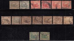 3c Federated Malay States Used, 1900, 1904, 1922 FMA, Shade Varities, Mixed Wmk, Tiger, Animal Malaya / Malaysia - Federated Malay States