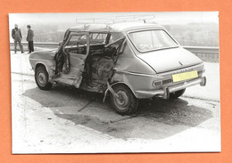 PHOTO ORIGINALE - ACCIDENT DE VOITURE SIMCA 1100  - CRASH CAR - Automobili