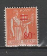 FRANCE / 1937 / Y&T N° 359 ** : Paix Surchargée 80c X 1 - Neufs