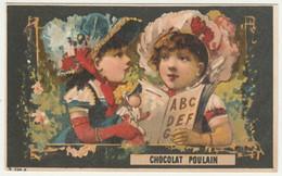 CHROMO Chocolat POULAIN  FILLETTES POUPEE LECTURE CHARADE - Poulain