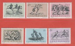 1952 Luxemburg ** (sans Charn., MNH, Postfrisch)  Yv  455/60Mi  495/00 - Nuevos