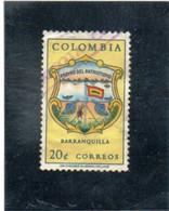 COLOMBIE     1961  Y. T. N° 595  Oblitéré - Colombia