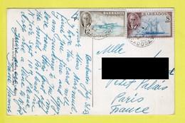 BARBADE / TP 199 SCHOONER (BATEAU) ET TP 200 POISSON VOLANT (FLYING FISH) / OBL. ST JAMES AU 4  53 BARBADOS - Barbados (...-1966)