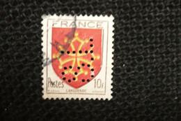 Perfin Lochung France Blason Languedoc 10frs   Perforé SL138 - Perforés