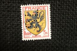 Perfin Lochung France Blason  Flandre   Perforé SL138 - Perforés