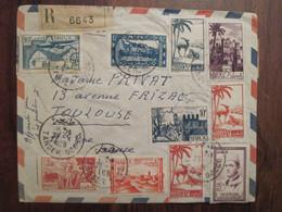 MAROC 1958 TANGER SOCCO FRANCE Lettre Cover Air Mail Enveloppe Cover Recommandé Bloc Voir Dos Aidez Les Tuberculeux - Briefe U. Dokumente