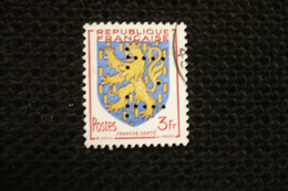 Perfin Lochung France Blason Franche Comté  Perforé TT53 - Perforés