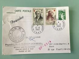 TAAF — Entier Postal Sabine De Gandon - Paquebot - MARION DUFRESNE - Prêts-à-poster:  Autres (1995-...)