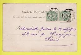 PAIRE DU TP 111 TYPE BLANC / OBL. PARIS 3- 16 -- 01 R. DE BOURGOGNE - Lettres & Documents