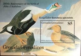 Grenada Grenadines 1986 Audubon Birds Minisheet MNH - Unclassified