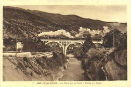 AMELIE Les BAINS  Le Pont Sur Le Tech Route De Ceret Train à Vapeur RV - Otros Municipios