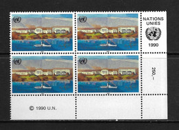 ONU-GENEVE 1990 BLOC DE 4 COURANT YVERT N°187 NEUF MNH** - Neufs