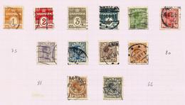 Danemark N°69 à 74, 76 à 79, 82, 83 Cote 12.15 Euros - Oblitérés